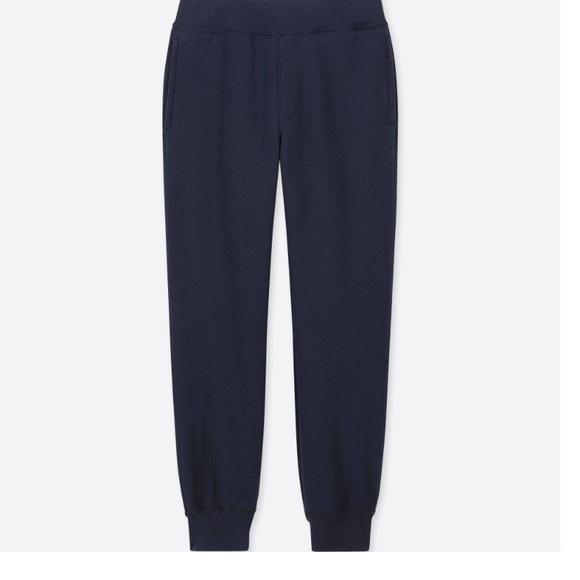 Uniqlo kids pile lined sweat pants (Navy) NWT